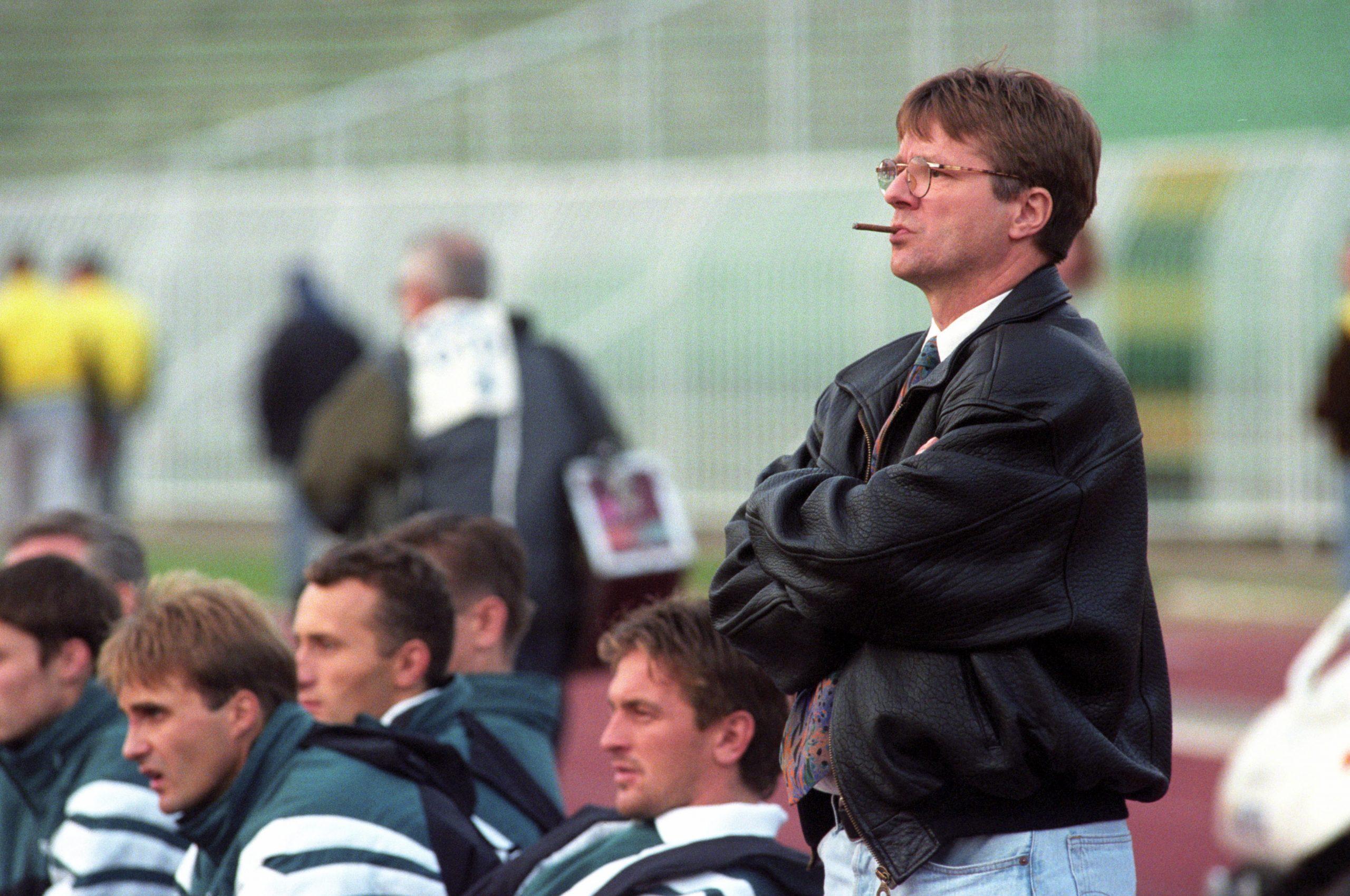 Varga Zoltán, a Ferencvárosi TC vezetõedzõje, 1996 / Fotó: MTI