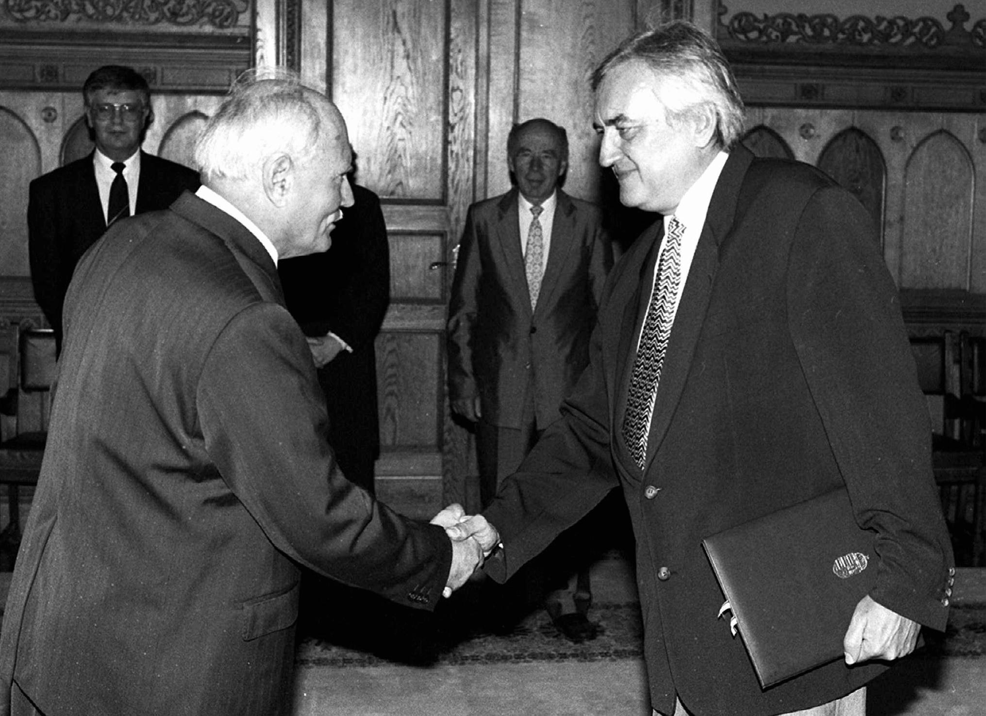 Göncz Árpád és Havas Henrik / Fotó: MTI