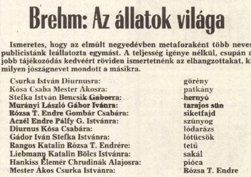 Különös lista / Forrás: Arcanum.hu