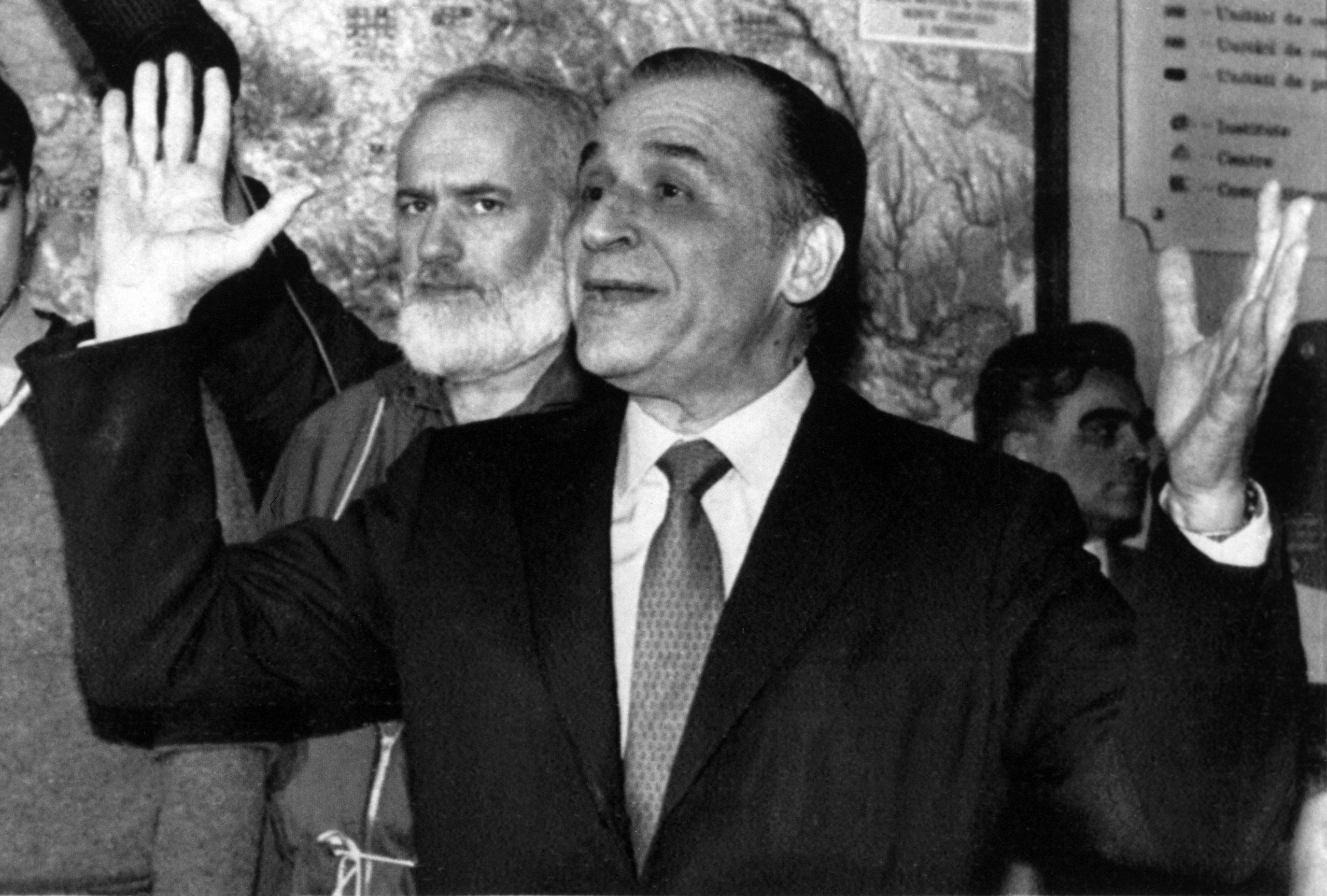 Ion Iliescu, a bányászjárás egyik fő felelőse / Fotó: MTI/Reuters