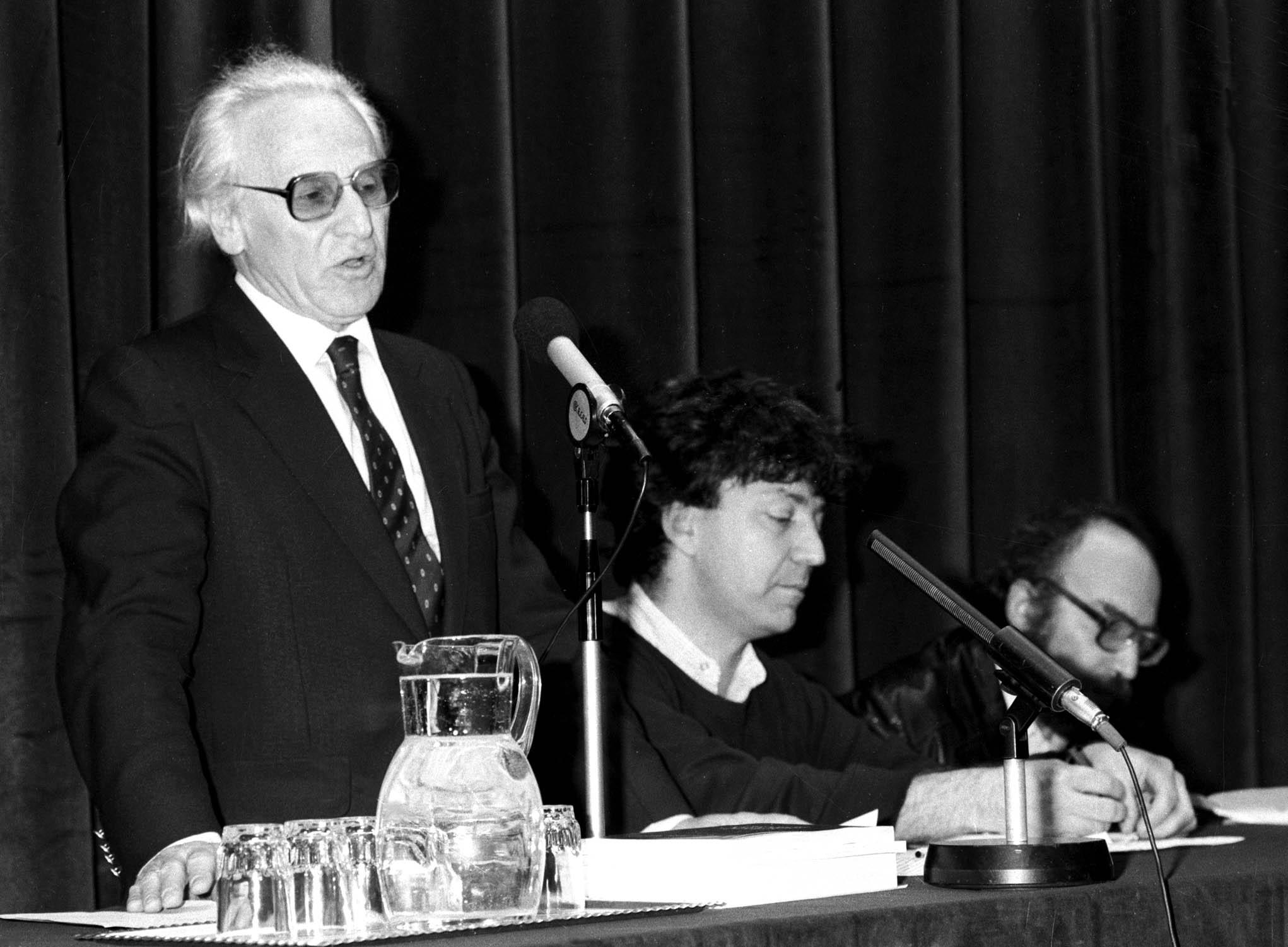 Hanák Péter Széchenyi-díjas történész / Fotó: MTI