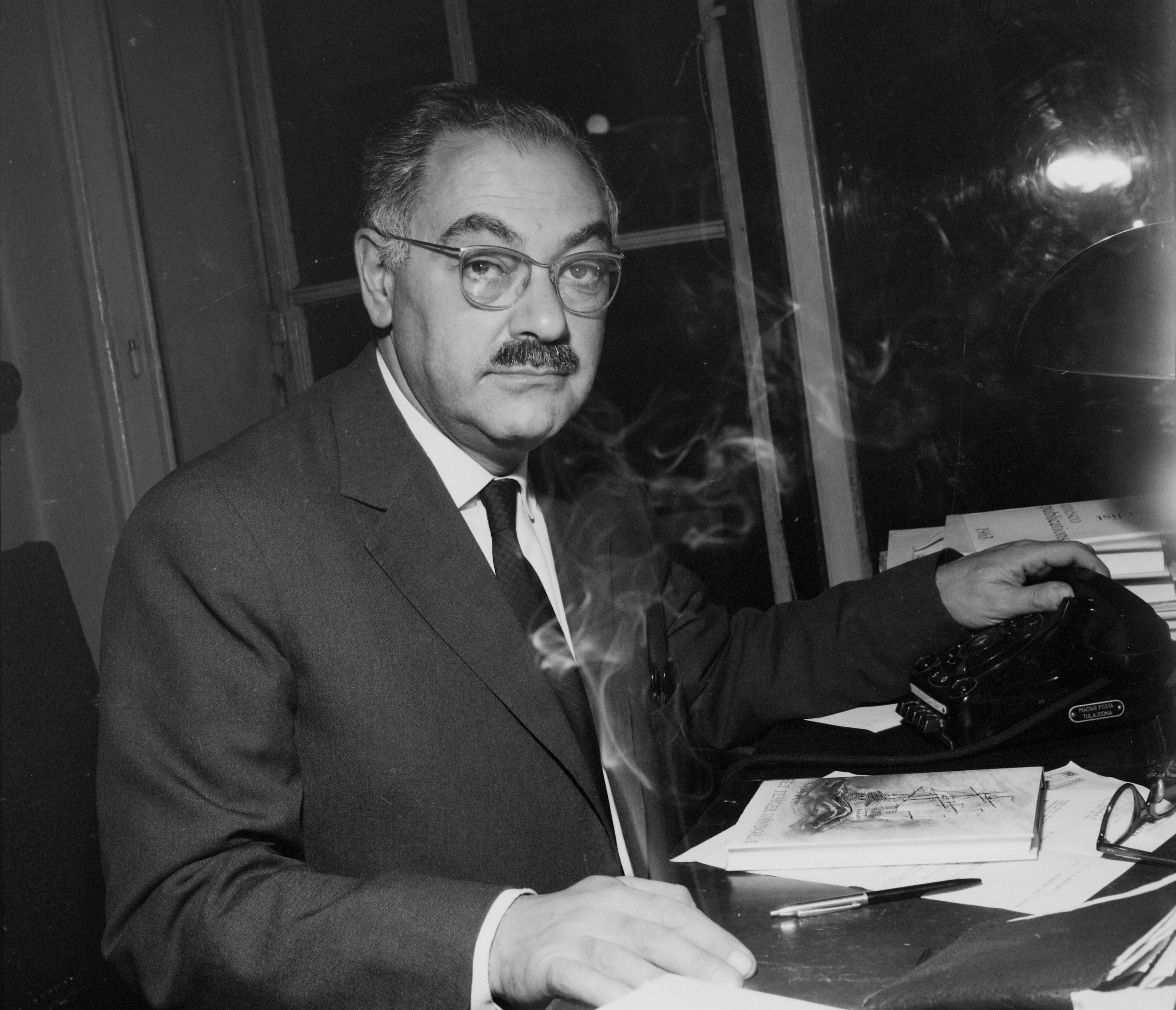 1964. Boldizsár Iván újságíró, propagandista, pártkatona / Fotó: Fortepan.hu / ad.: Hunyady József