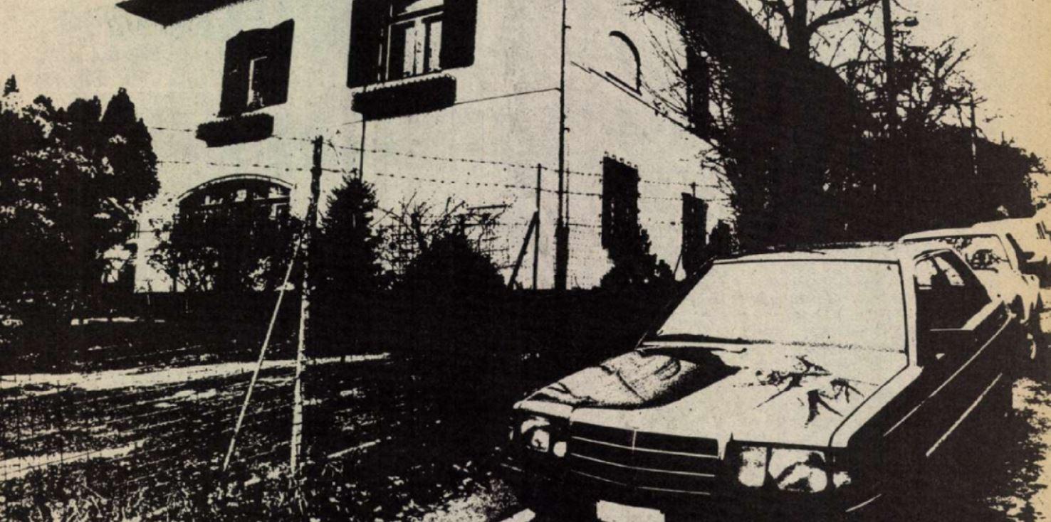 A cikk illusztrációja, jobbra, gondoljuk, Fodros elvtárs autója / Forrás: Magyar Ifjúság/Arcanum.hu
