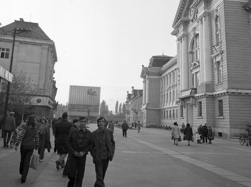 1976. Kárpátalja, Beregszász, Kossuth tér / Fortepan.hu, adományozó: Magyar Rendőr