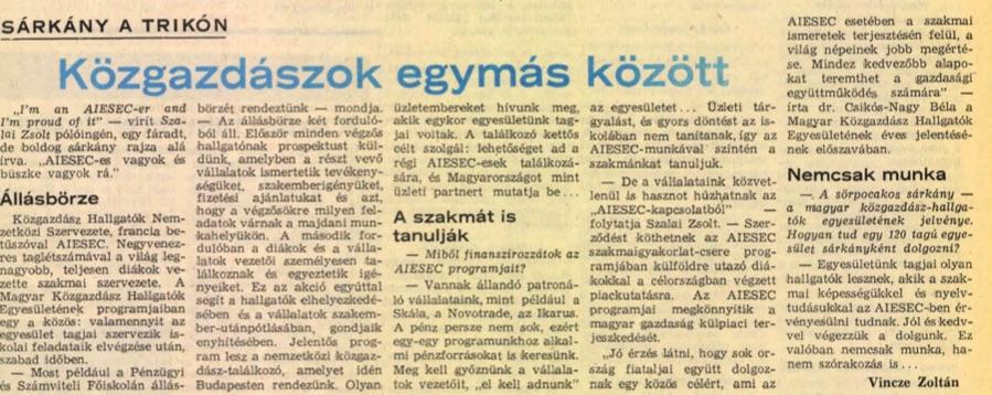 1986-os cikk.a Népszabadságban / Forrás: Arcanum.hu