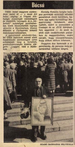 Már címlapos cikk a Népszabadságban / Forrás: Arcanum.hu