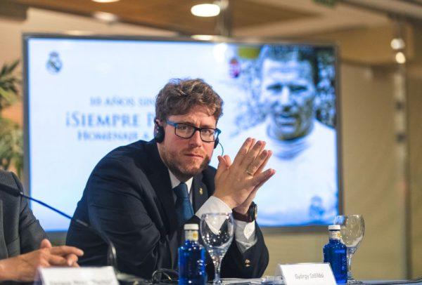 Szöllősi György Madridban is a Puskás- ügy nagyköveteként tevékenykedett. Fotó: Puskás Akadémia