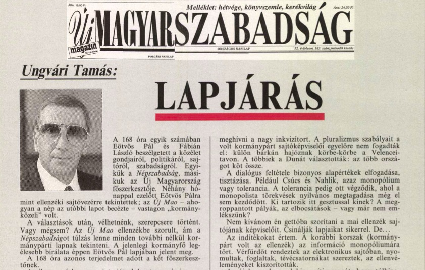 Ungvári cikke / Forrás: Arcanum.hu