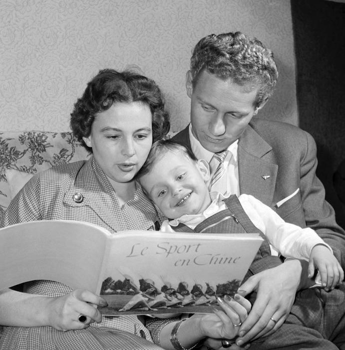 Bánhegyi László még kosárlabdázóként a feleségével 1957-ben / Fotó: MTI