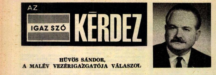 Hüvös Sándor az Igaz Szó propagandalapban / Forrás: Arcanum.hu