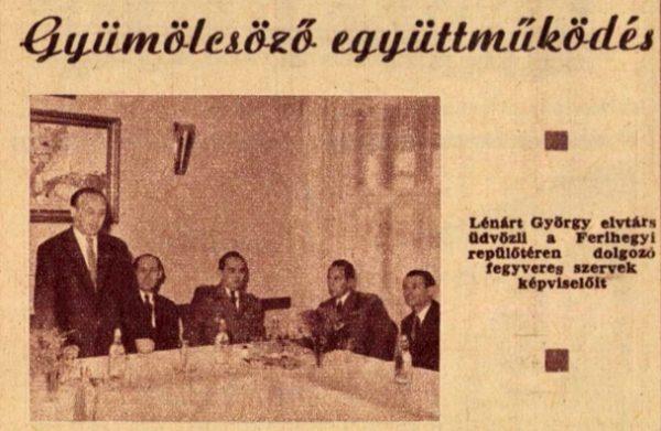 Lénárt Györgyről nehéz fotót találni. Itt a fegyveres testületeket üdvözli a Néphadsereg lapjában / Forrás: A Hazáért, 1963, arcadum.hu