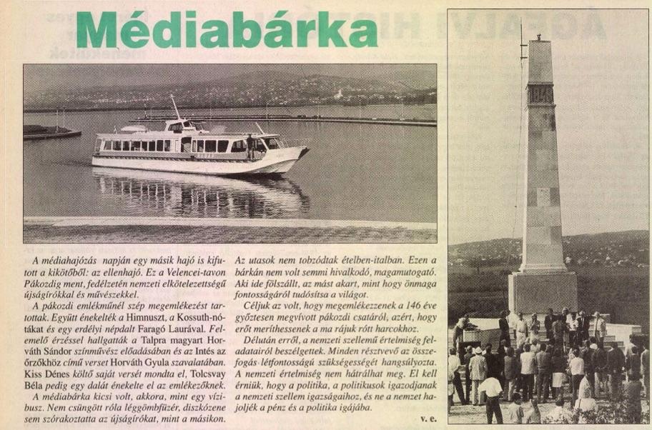 Médiabárka / Forrás: Magyar Fórum/ Arcanum.hu