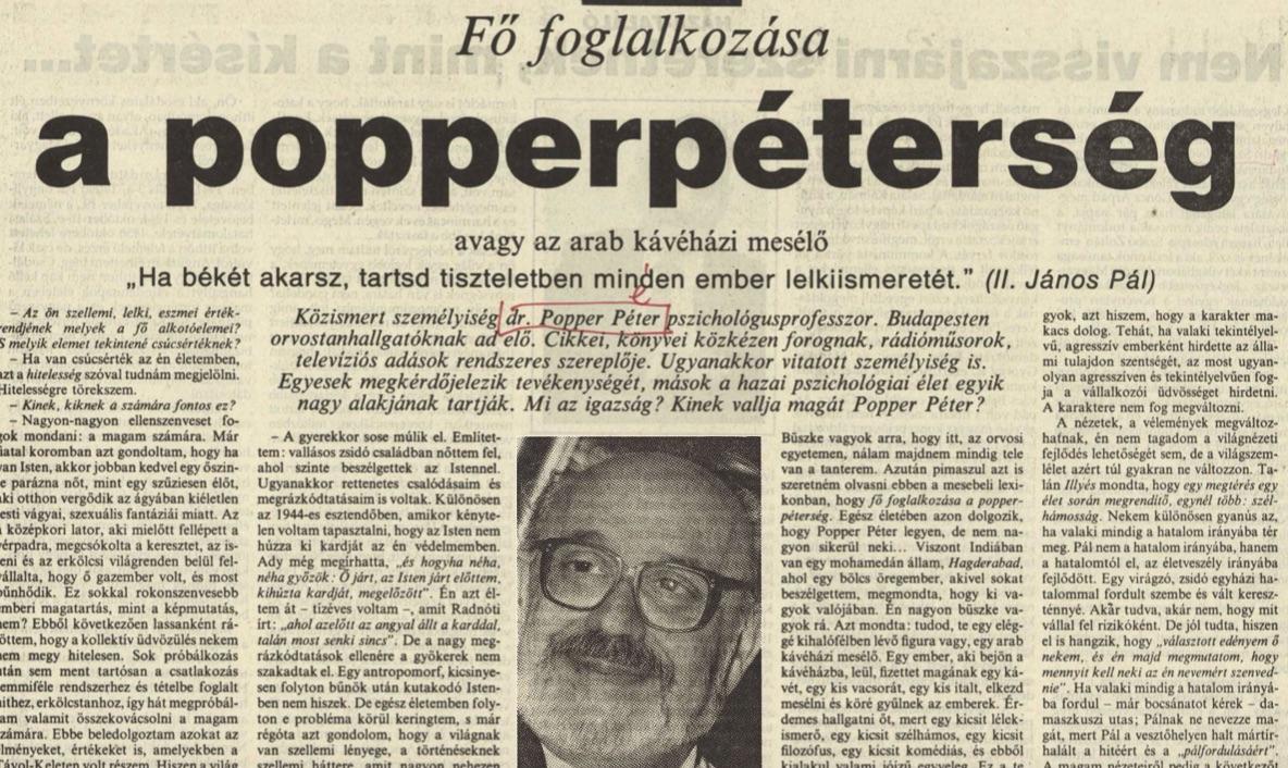 Szokásos népszerűsítő cikk, ezúttal 1991, Új Magyarország / Forrás: Arcanum