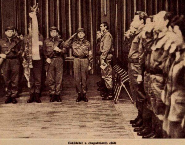 A Sziklai Sándor munkásőr-csapat / Forrás: Lobogó (Arcanum)