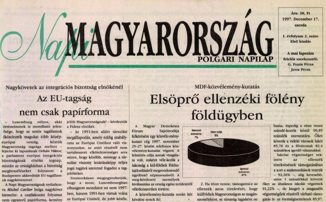 A Napi Magyarország 2. száma / Forrás: Arcanum.hu