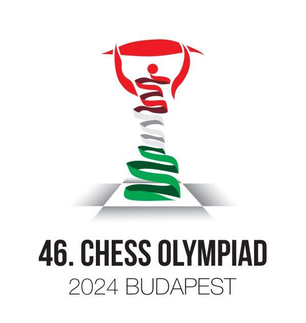 A 2024. évi budapesti Sakkolimpia hivatalos logója. Forrás: Magyar Sakkszövetség