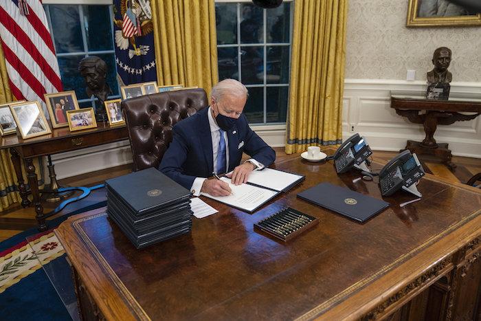 Joe Biden hamar világossá tette, mire számíthatunk tőle a jövőben. <br /> Fotó: MTI/EPA/The New York Times/Doug Mills