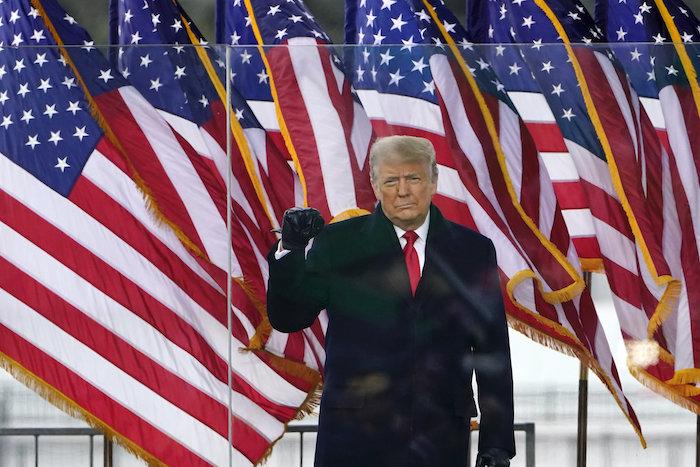 Donald Trump republikánus párti amerikai elnök a támogatására rendezett tüntetésen / Fotó: MTI/EPA