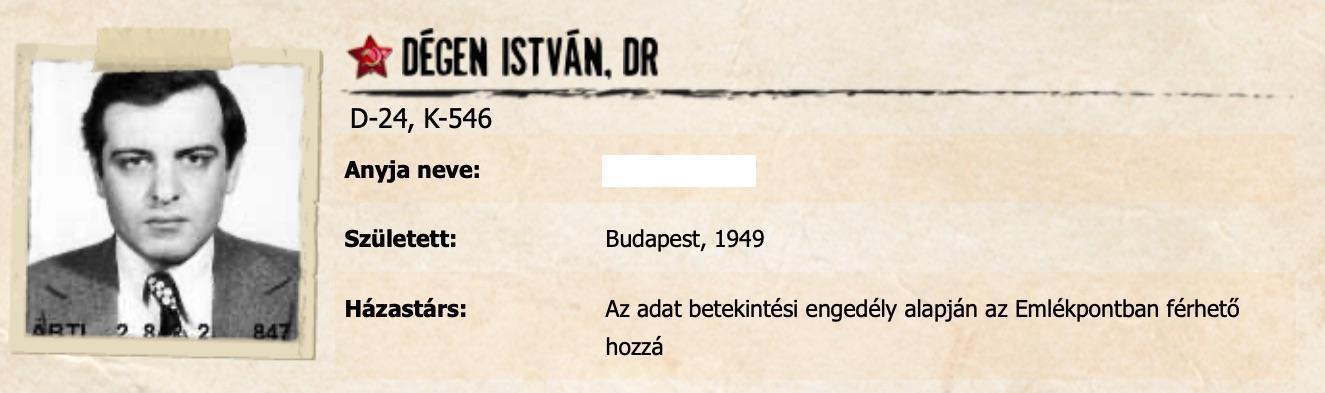 Dégen elvtárs / Forrás: Szigoruantitkos.hu