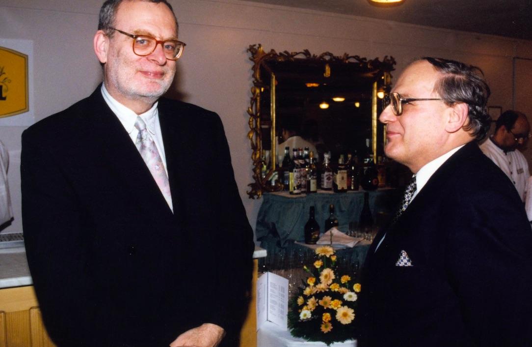 Meruk József az újságíróbálon. 1997 / Fotó: MTI
