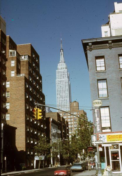 New York, Empire State Building, 1960-as évek. Fortepan, dr. Métneki