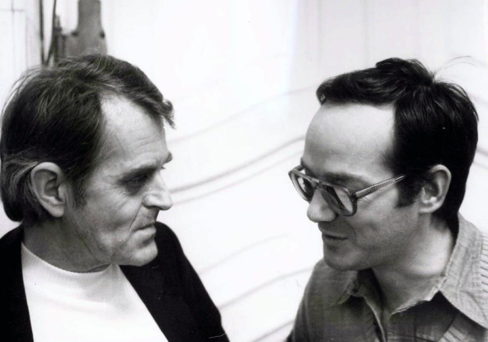 Bozó László és Agárdi Péter 1985-ben / Fotó: MTI