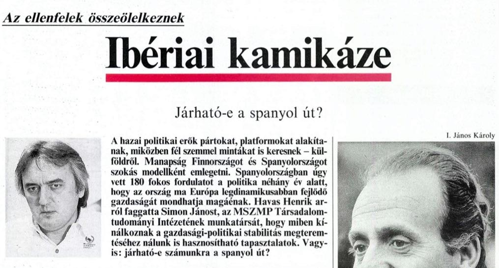 Havas is az első számban / Forrás: Arcanum.hu