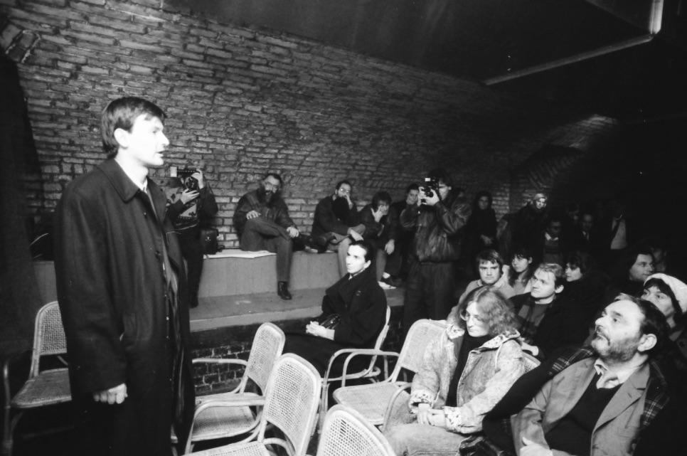 Demszky már főpolgármesterként a Tilos az Á-ban / Fotó: Fortepan.hu, ad.: Szigetváry Zsolt