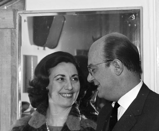 Szakáts Miklós feleségével, Kemény Judittal. Forrás: Fortepan