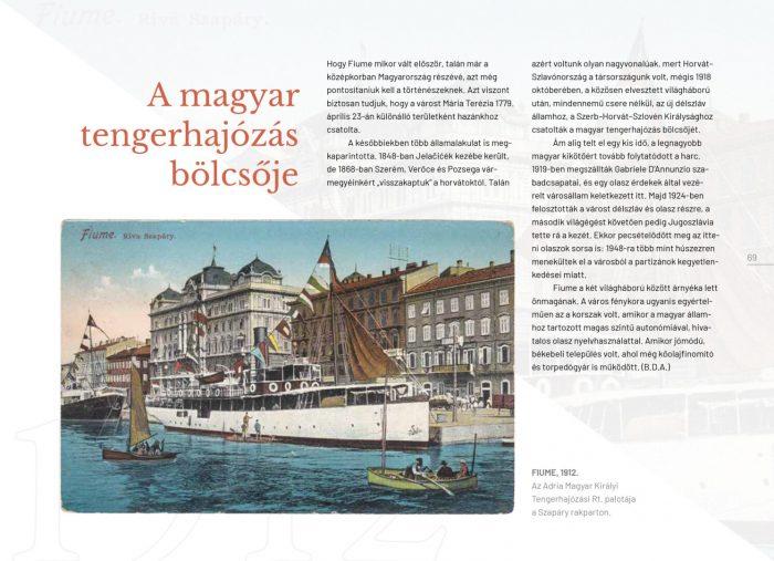 Fiume, mint a magyar tengerhajózás bölcsője, a kötetben. Forrás: Elrabolt Hungária