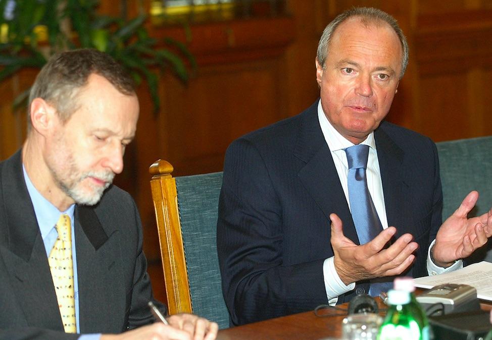 Bogsch Erik és Medgyessy Péter (D-209) miniszterelnök / Forrás: MTI