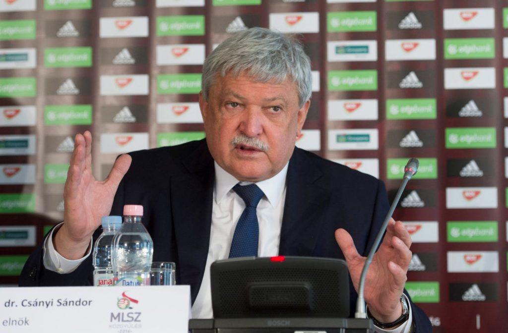 Csányi Sándor MLSZ-elnökként sikeres útra irányította a magyar labdarúgást! Fotó: MTI