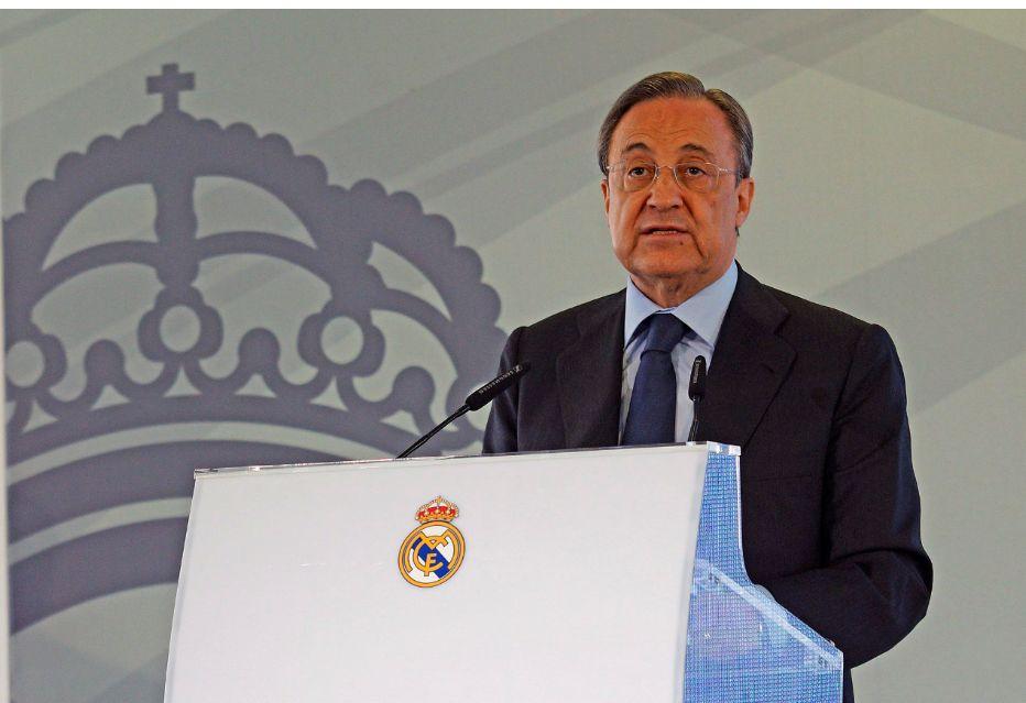 Florentino Pérez, a Real Madrid és a Szuperliga elnöke. Fotó: MTI