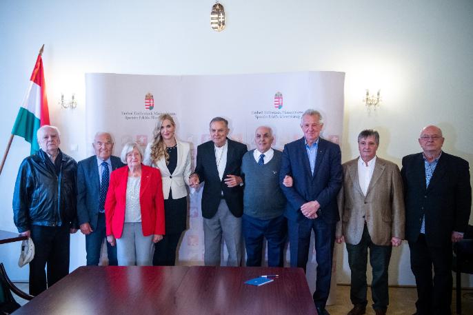 A Nemzet Sportolói május 20-án találkoztak és egyhangú döntést hoztak: Jónyer Istvánt választották maguk közé tizenkettedik tagnak. Fotó: MTI/Balogh Zoltán