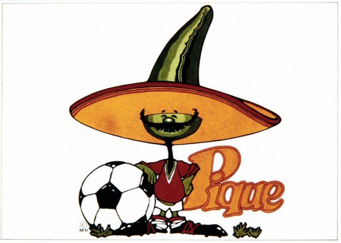 Pique, a mexikói vb kabalafigurája. Nekünk nem hozott szerencsét...