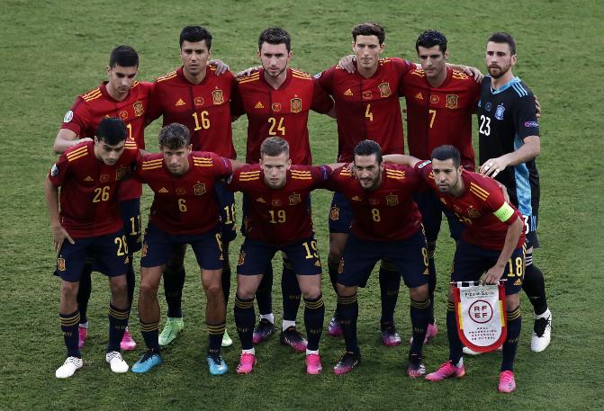 Real Madrid-játékos nincs a spanyol csapatban, amely azonban így is nagyon erős. Fotó: MTI/EPA pool/Julio Munoz
