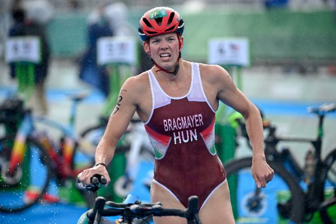 Bragmayer Zsanett sporttörténelmi eredményt ért el női triatlonban! Fotó: MTI/Czeglédi Zsolt
