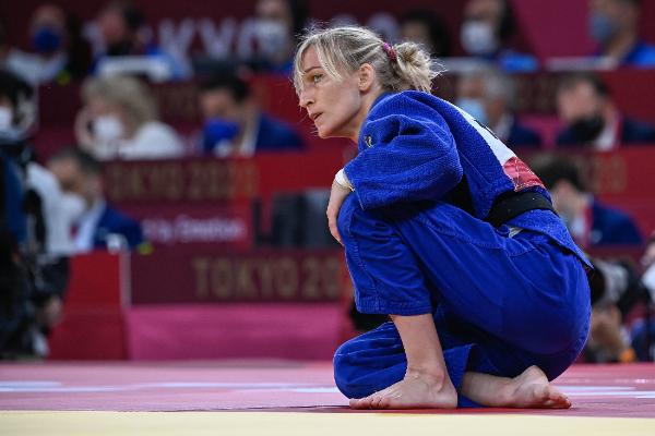 Csernoviczki Éva első párharcát még megnyerte, ám aztán a világbajnok japán nehéz ellenfélnek bizonyult számára. Fotó: MTI/Czeglédi Zsolt