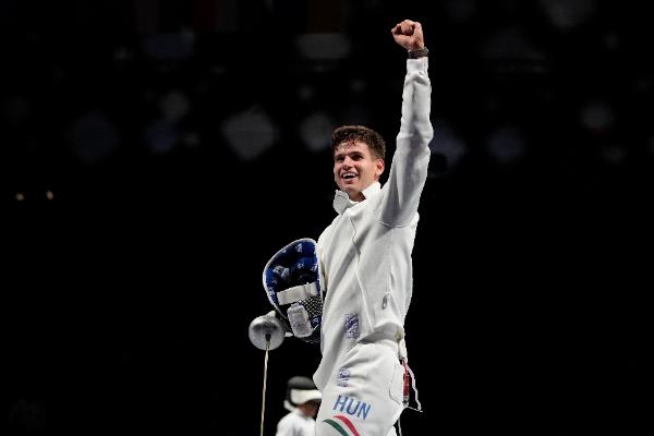 Siklósi Gergely a teljesítményével és az ezüstérmével nagy örömet okozott a magyar sportbarátoknak! Fotó: MTI/AP/Hasan Ammar
