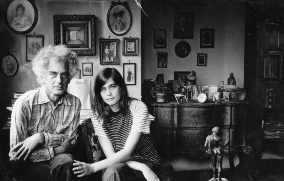 Ketten a négy szereplő közül: Krassó György és Háy Ágnes otthonukban, 1984 / Fotó: Fortepan.hu, ad.: Philipp Tibor