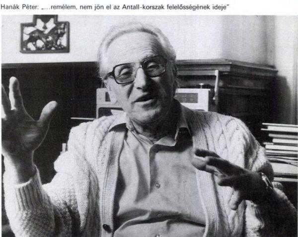 Hanák Péter 1990-ben már az Antall-kormánytól rettegett a 168 órában / Forrás: Arcanum