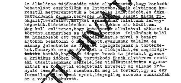 Jelentés, harmadik részlet / Forrás: Hamvasintezet.hu
