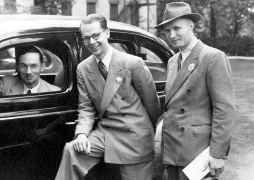 Kosáry Domokos és K. Kovács Péter New Yorkban, 1941 / Forrás: Magyarszemle.hu