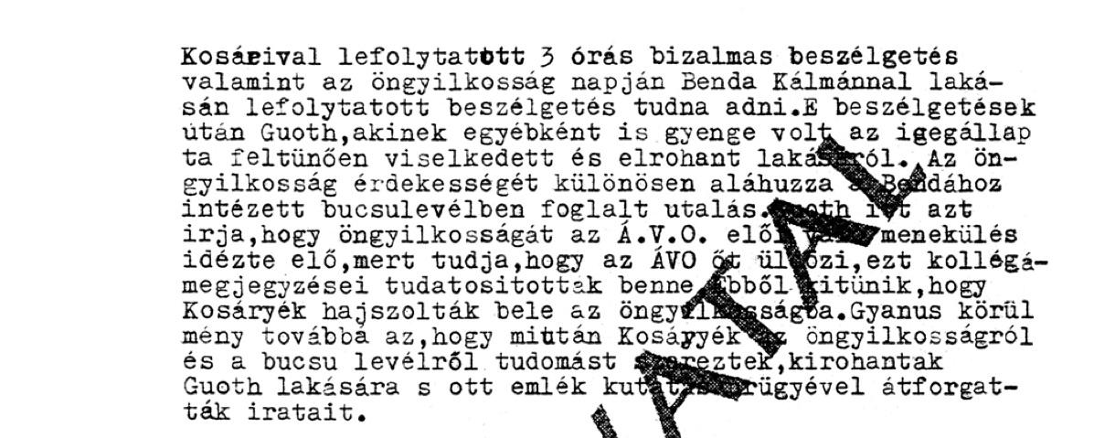 A vonatkozó jelentés második része / Forrás: Hamvasintezet.hu